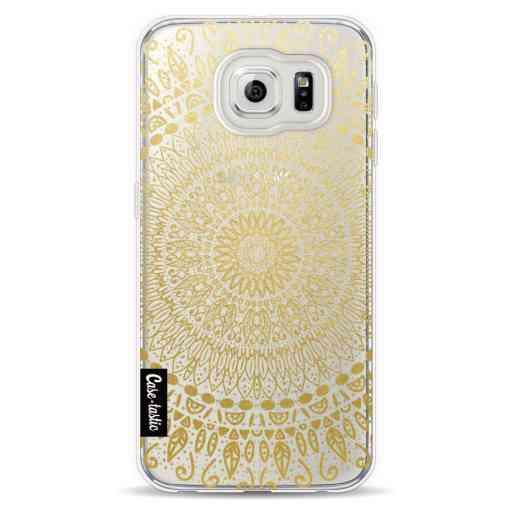 Casetastic Softcover Samsung Galaxy S6  - Gold Mandala
