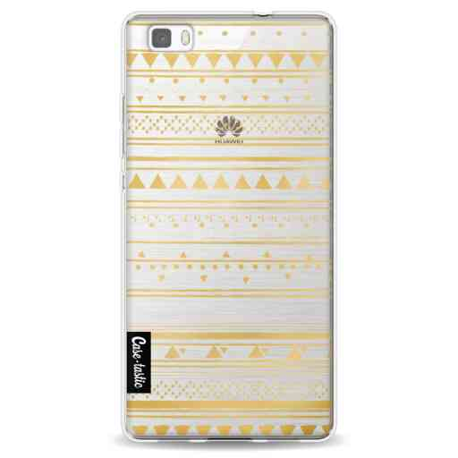 Casetastic Softcover Huawei P8 Lite - Gold Tribal