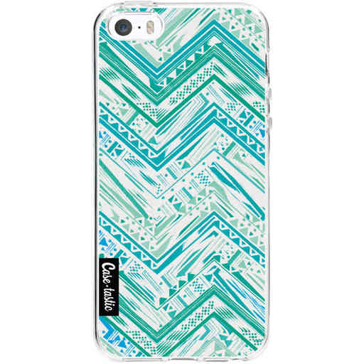 Casetastic Softcover Apple iPhone 5 / 5s / SE - Mint Tribal
