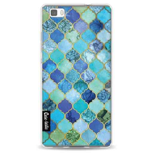 Casetastic Softcover Huawei P8 Lite (2015) - Aqua Moroccan Tiles