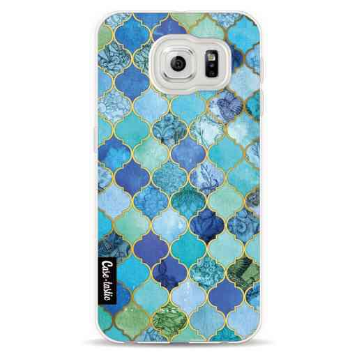 Casetastic Softcover Samsung Galaxy S6  - Aqua Moroccan Tiles