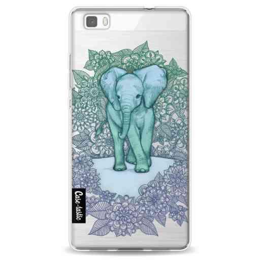 Casetastic Softcover Huawei P8 Lite (2015) - Emerald Elephant