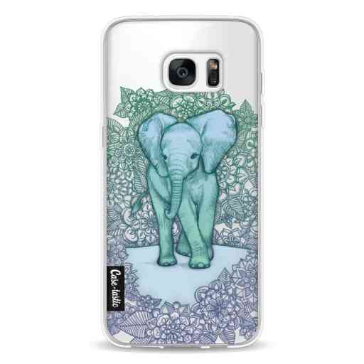 Casetastic Softcover Samsung Galaxy S7 Edge - Emerald Elephant