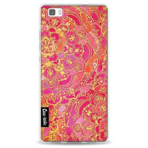 Casetastic Softcover Huawei P8 Lite - Hot Pink Barroque