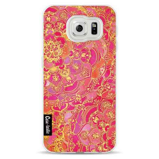 Casetastic Softcover Samsung Galaxy S6  - Hot Pink Barroque