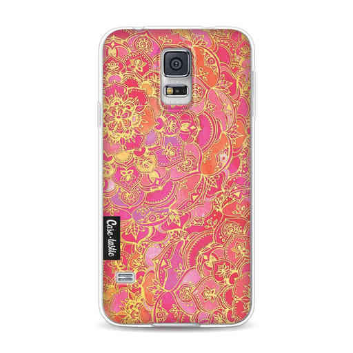 Casetastic Softcover Samsung Galaxy S5 - Hot Pink Barroque