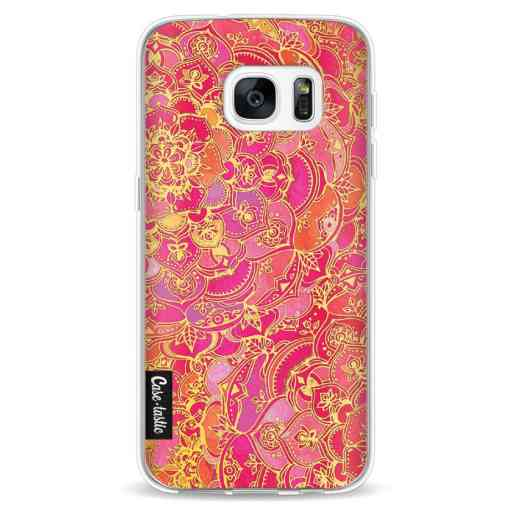 Casetastic Softcover Samsung Galaxy S7 - Hot Pink Barroque