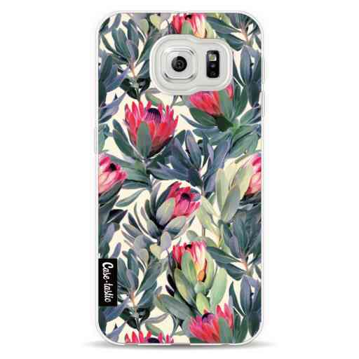 Casetastic Softcover Samsung Galaxy S6  - Painted Protea