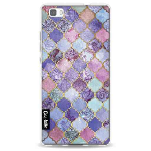 Casetastic Softcover Huawei P8 Lite (2015) - Purple Moroccan Tiles