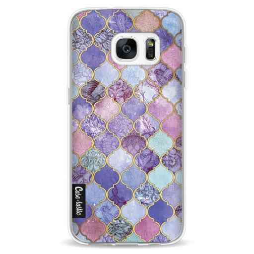 Casetastic Softcover Samsung Galaxy S7 - Purple Moroccan Tiles