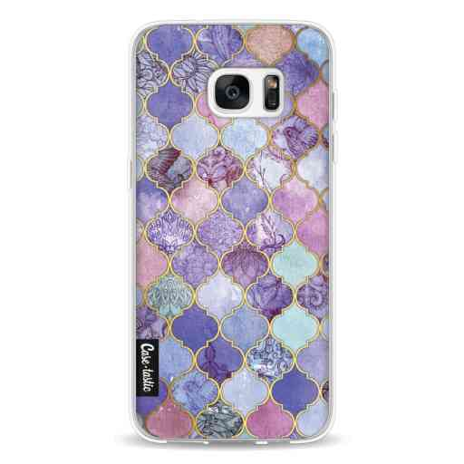 Casetastic Softcover Samsung Galaxy S7 Edge - Purple Moroccan Tiles