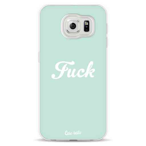 Casetastic Softcover Samsung Galaxy S6  - Fuck Boho Hipster Mint
