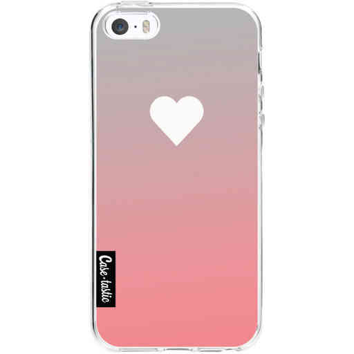 Casetastic Softcover Apple iPhone 5 / 5s / SE - Peach Heart Fade