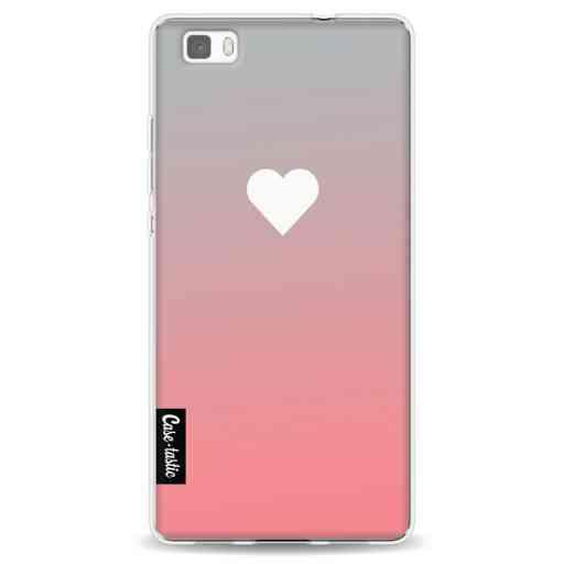 Casetastic Softcover Huawei P8 Lite - Peach Heart Fade