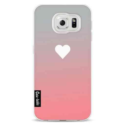 Casetastic Softcover Samsung Galaxy S6  - Peach Heart Fade
