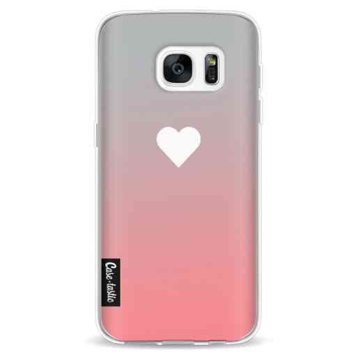 Casetastic Softcover Samsung Galaxy S7 - Peach Heart Fade