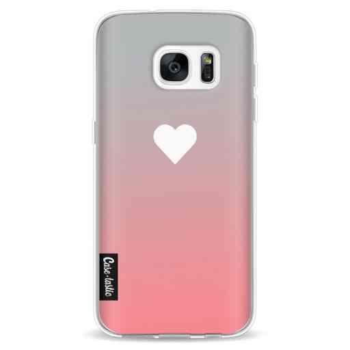 Casetastic Softcover Samsung Galaxy S7 - Peach Heart Fade