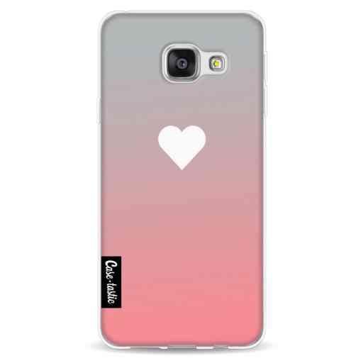 Casetastic Softcover Samsung Galaxy A3 (2016) - Peach Heart Fade