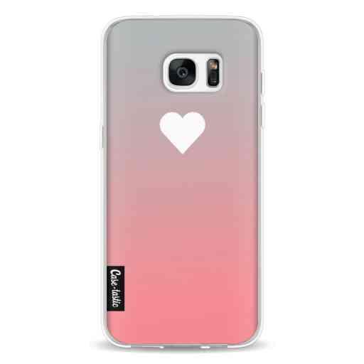 Casetastic Softcover Samsung Galaxy S7 Edge - Peach Heart Fade