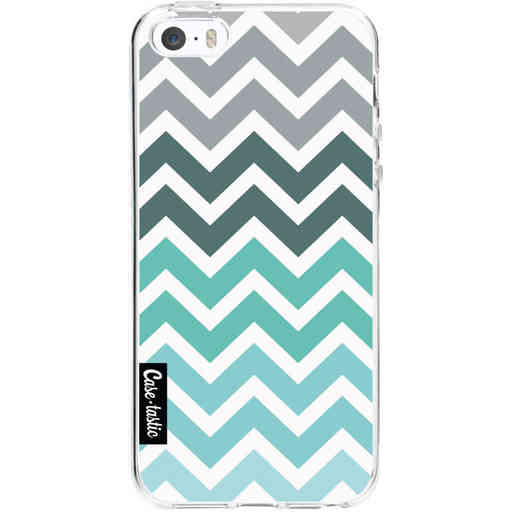Casetastic Softcover Apple iPhone 5 / 5s / SE - Tiffany Fade Chevron