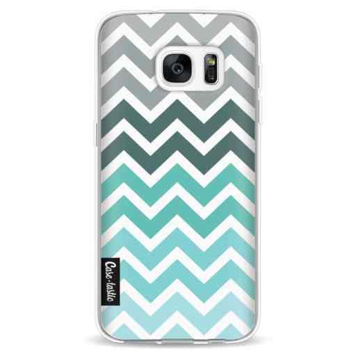 Casetastic Softcover Samsung Galaxy S7 - Tiffany Fade Chevron