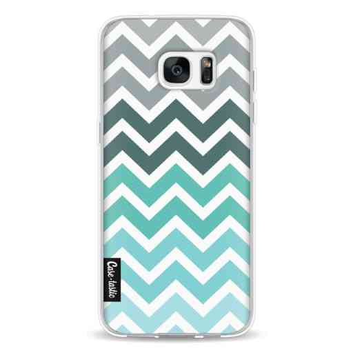 Casetastic Softcover Samsung Galaxy S7 Edge - Tiffany Fade Chevron