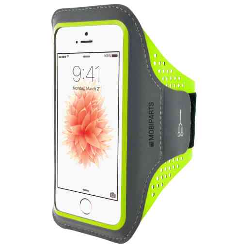 Casetastic Comfort Fit Sport Armband Apple iPhone 5/5S/SE Neon Green