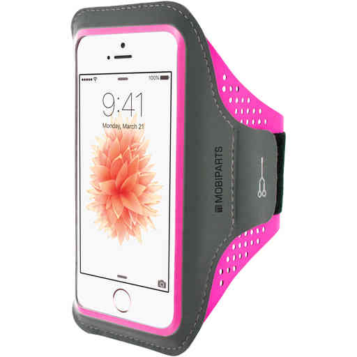 Casetastic Comfort Fit Sport Armband Apple iPhone 5/5S/SE Neon Pink