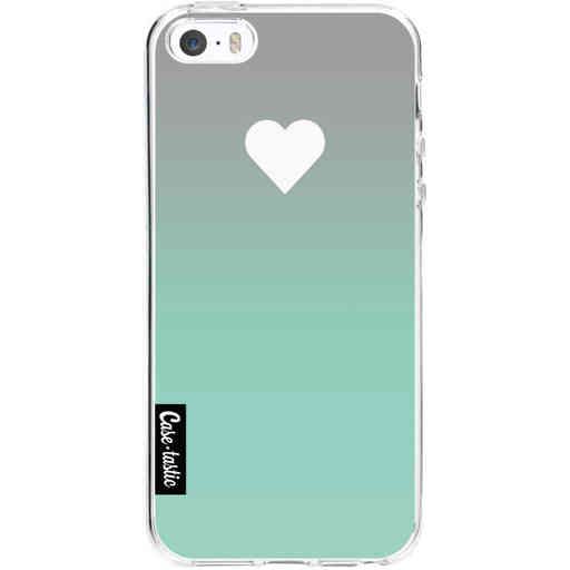Casetastic Softcover Apple iPhone 5 / 5s / SE - Tiffany Heart Fade