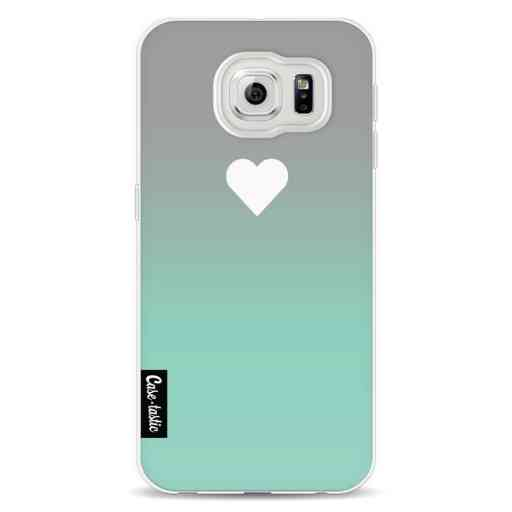 Casetastic Softcover Samsung Galaxy S6 - Tiffany Heart Fade