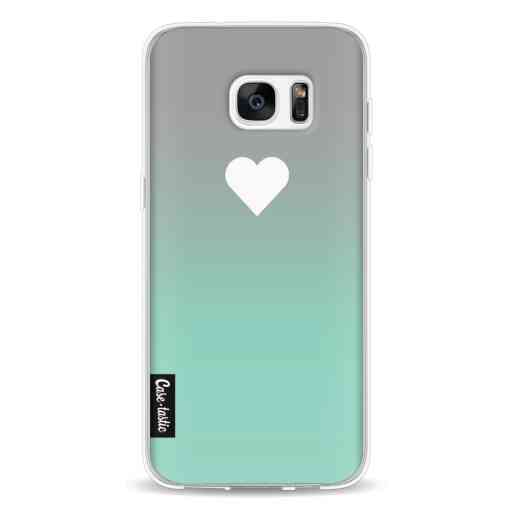 Casetastic Softcover Samsung Galaxy S7 Edge - Tiffany Heart Fade