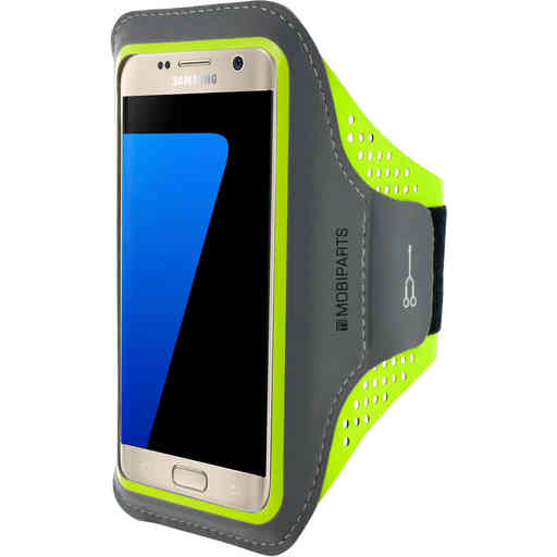 Casetastic Comfort Fit Sport Armband Samsung Galaxy S7 Neon Green