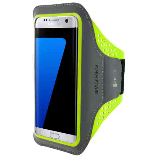 Casetastic Comfort Fit Sport Armband Samsung Galaxy S7 Edge Neon Green
