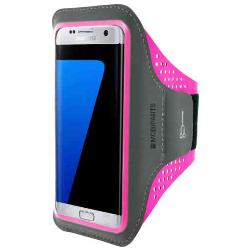 Casetastic Comfort Fit Sport Armband Samsung Galaxy S7 Edge Neon Pink