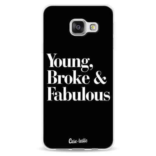 Casetastic Softcover Samsung Galaxy A3 (2016) - Young Broke and Fabulous Black