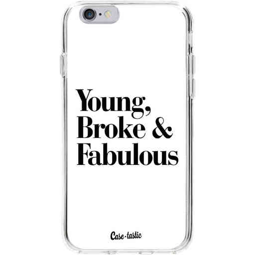 Casetastic Softcover Apple iPhone 6 / 6s  - Young Broke and Fabulous White