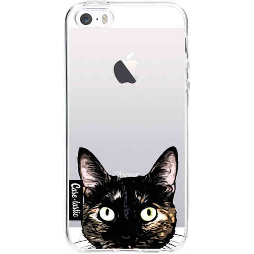 Casetastic Softcover Apple iPhone 5 / 5s / SE - Peeking Kitty