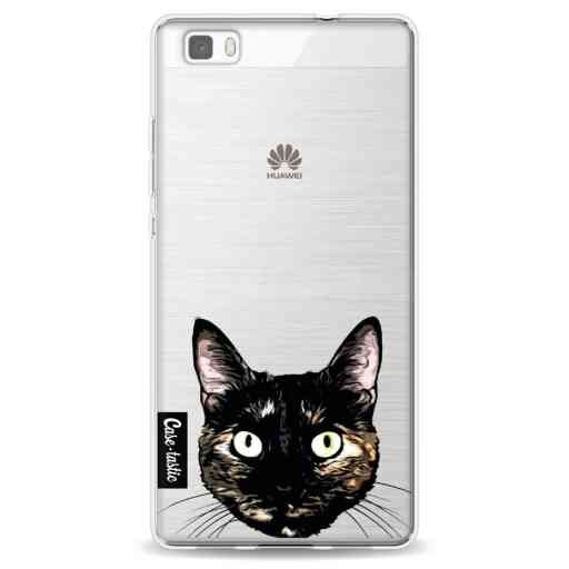Casetastic Softcover Huawei P8 Lite - Peeking Kitty