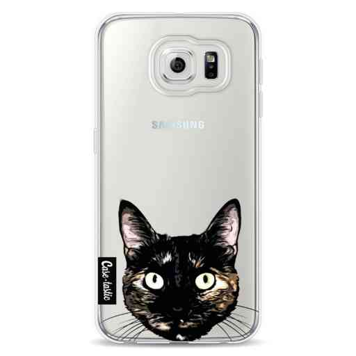 Casetastic Softcover Samsung Galaxy S6 - Peeking Kitty