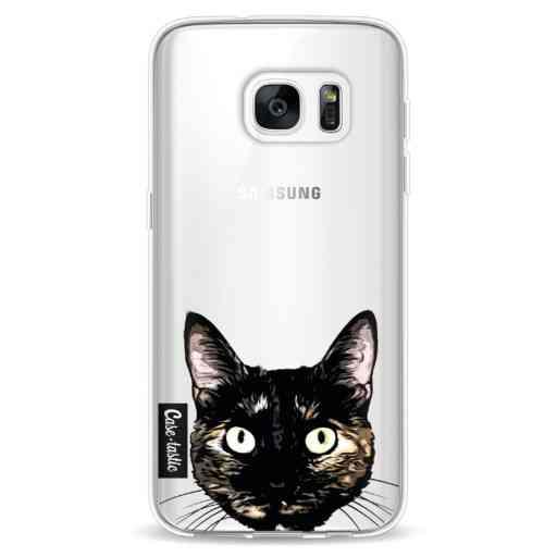 Casetastic Softcover Samsung Galaxy S7 - Peeking Kitty