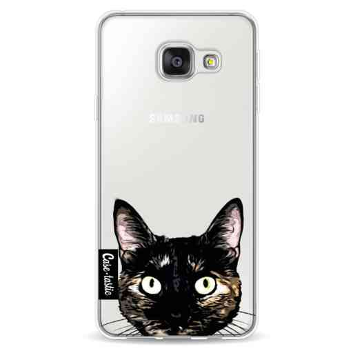 Casetastic Softcover Samsung Galaxy A3 (2016) - Peeking Kitty