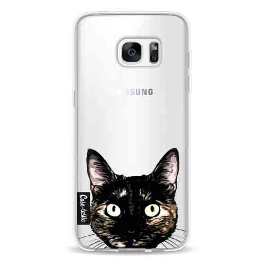 Casetastic Softcover Samsung Galaxy S7 Edge - Peeking Kitty