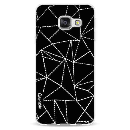 Casetastic Softcover Samsung Galaxy A3 (2016) - Abstract Dotted Lines Black
