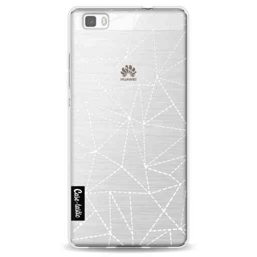 Casetastic Softcover Huawei P8 Lite - Abstract Dotted Lines Transparent
