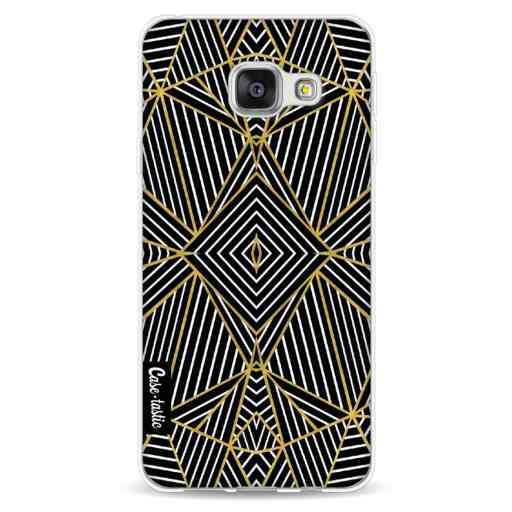 Casetastic Softcover Samsung Galaxy A3 (2016) - Abstraction Half Gold