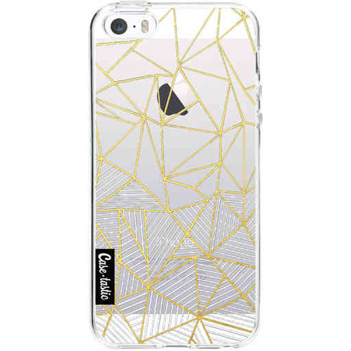 Casetastic Softcover Apple iPhone 5 / 5s / SE - Abstraction Half Half Transparent