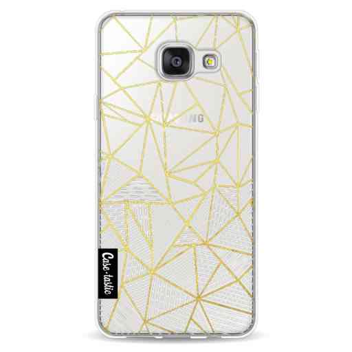 Casetastic Softcover Samsung Galaxy A3 (2016) - Abstraction Half Half Transparent