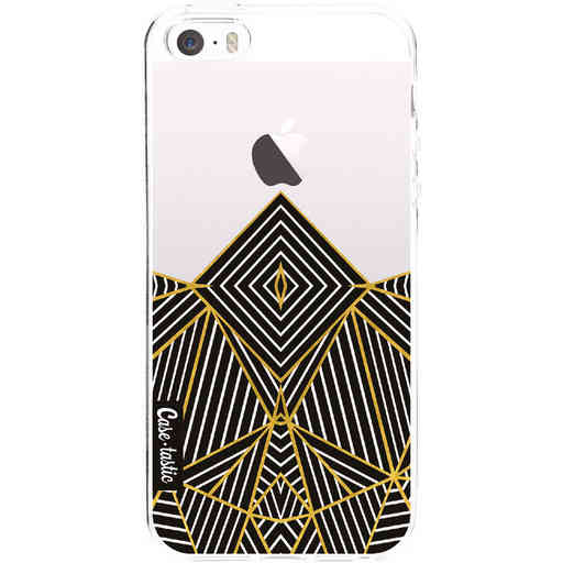 Casetastic Softcover Apple iPhone 5 / 5s / SE - Abstraction Half Transparent
