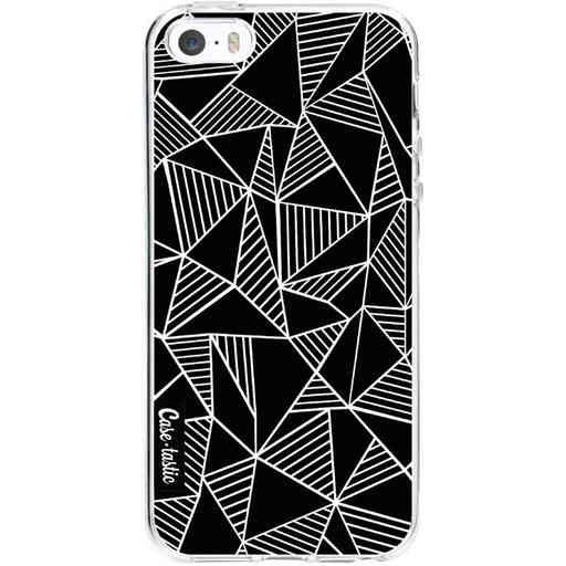 Casetastic Softcover Apple iPhone 5 / 5s / SE - Abstraction Lines Black