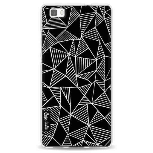 Casetastic Softcover Huawei P8 Lite (2015) - Abstraction Lines Black